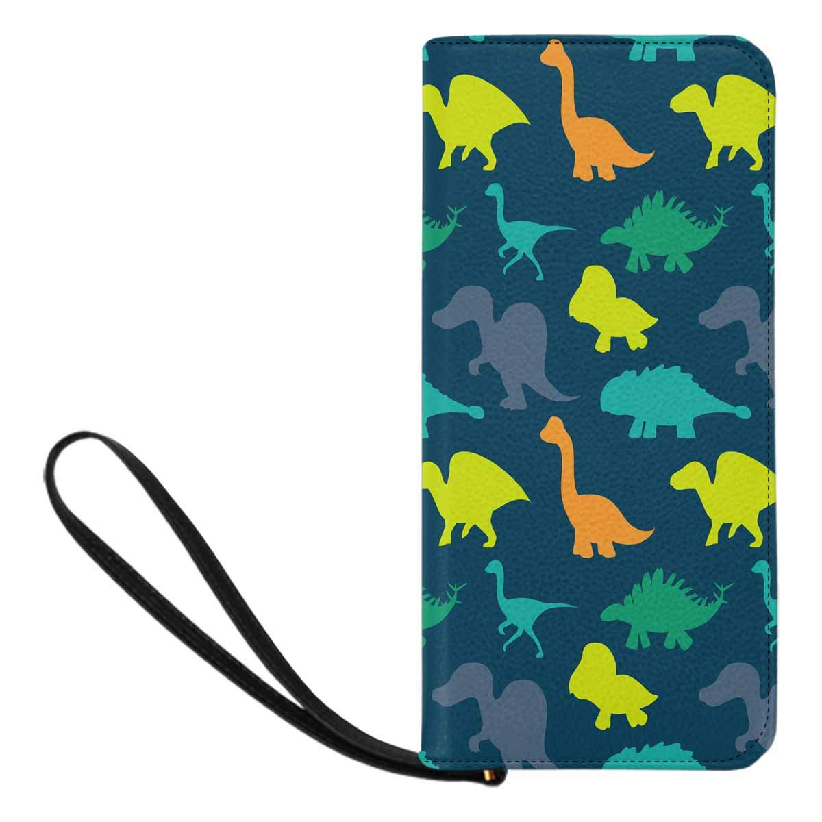 InterestPrint Womens Dinosaurs Clutch Purse Card Holder Organizer Ladies Purse