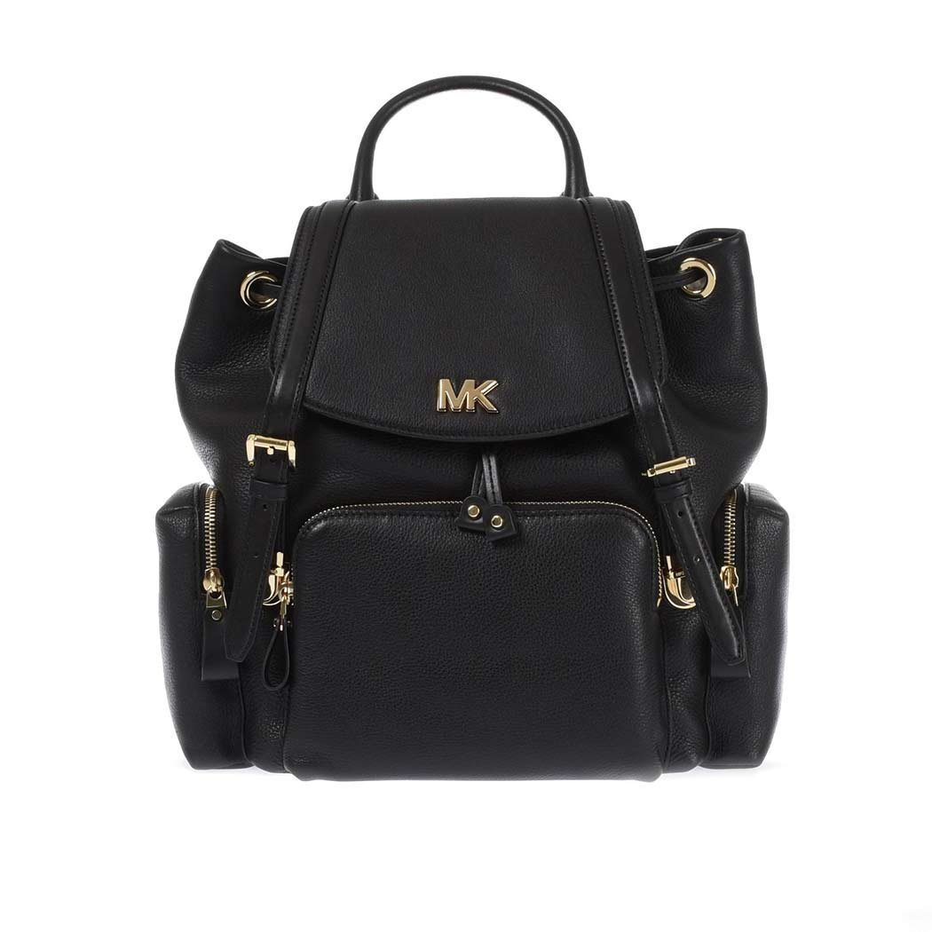 Women's Accessories Michael Kors Beacon Black Leather Backpack Spring Summer 2018