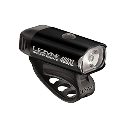 NEW Lezyne Hecto Drive 400XL Bike Front Headlight Gloss Black