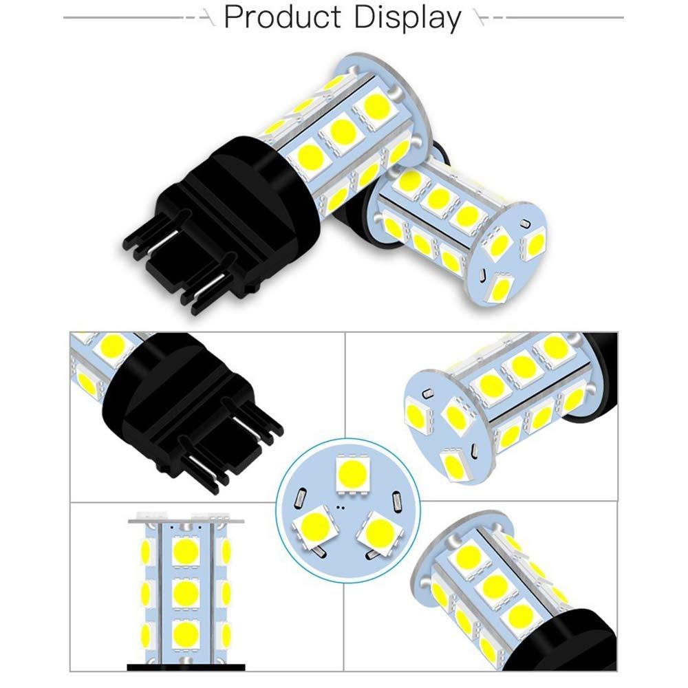 Pack of 10-6500K White 3157 3156 3057 4157 3056 LED Bulbs 5050 18-SMD Replacement Lamps for 12V Interior RV Camper Trailer Lighting Back Up Reverse Lights or Tail Brake Lights JAVR