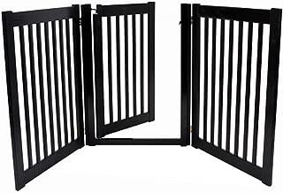 product image for Freestanding Walk Through Gate 3 Panel Black