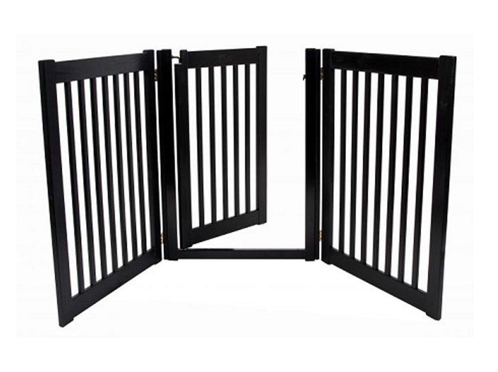 Dynamic Accents 3 Panel Freestanding Walk Through Gate Black