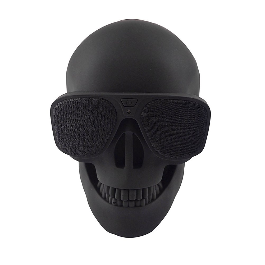 ROSENICE Skull Bluetooth Speaker Wired Speaker for Desktop PC Laptop Phone 5W (Black)
