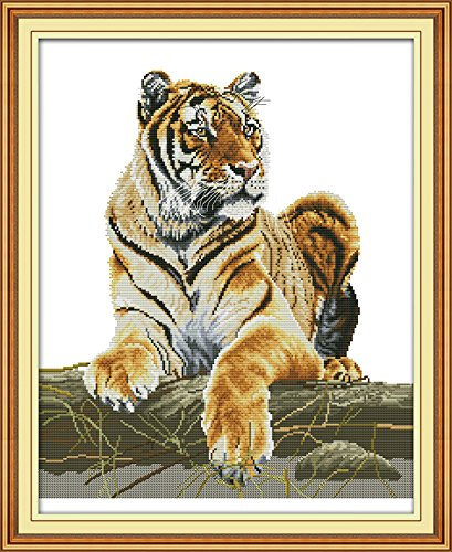 Happy Forever Cross Stitch Animals, tiger Cross Stitch Kit Tiger