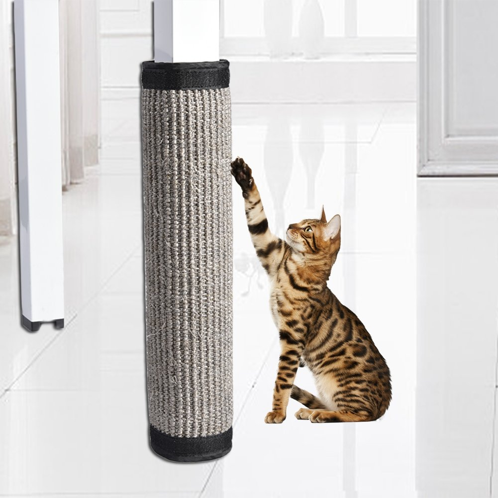 Foerteng Cat Scratch Mat Cat Playing Flexible Scratching Pad Sisal Replacement Cat Scratcher and Resting Post Natural Habitat Bed Mat for Cats, 15.75 11.81in