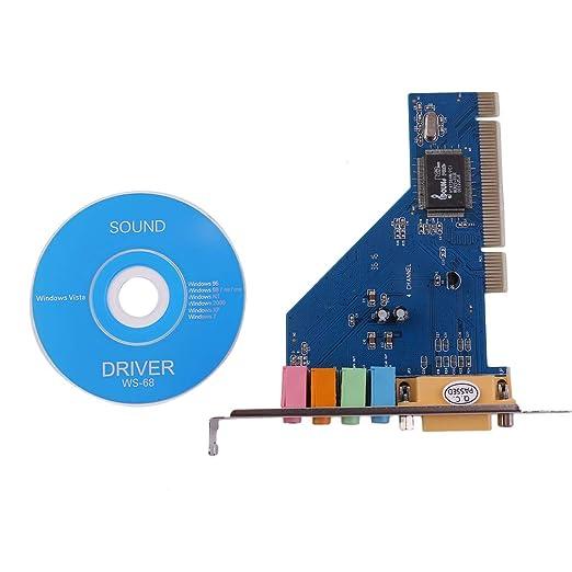 FairytaleMM 4 Tarjeta de Sonido de Audio de Canal 5.1 de Sonido Envolvente 3D PCI para PC con Windows XP/Vista / 7