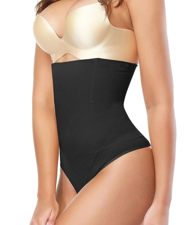 0e8a1dead9d SEXYWG Women High Waist Trainer Tummy Control Thong Body Shaper Shapewear  Panty WSC3682-B ...