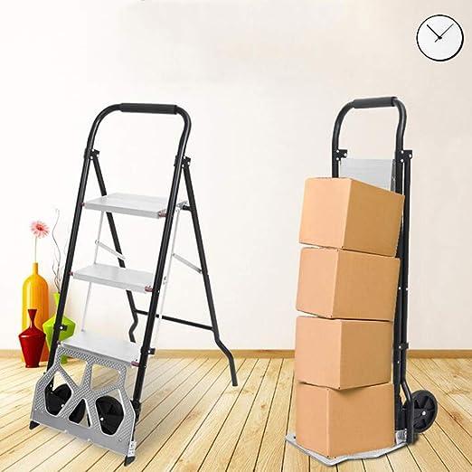 SKLLA Carro Plegable Multifunción, Mini Escalera Plegable De Aluminio En Espiga + Carro TR 2 Funciones Que Se Pueden Cambiar En Cualquier Momento: Amazon.es: Hogar