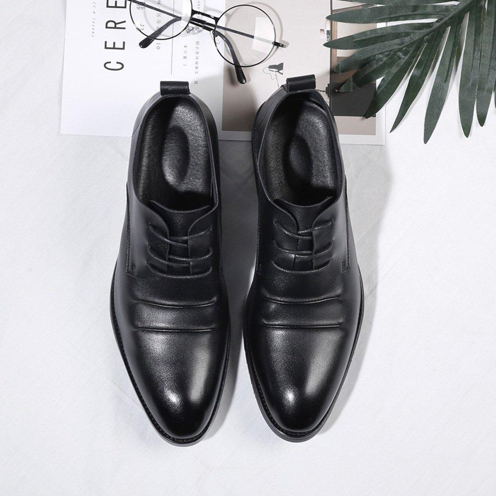 SCSY-Oxford-Schuhe Herrenmode Schuhe Casual Matte PU PU PU Leder Müßiggänger Lace Up Atmungsaktive Spitze Oxfords Schwarz  9ef3db