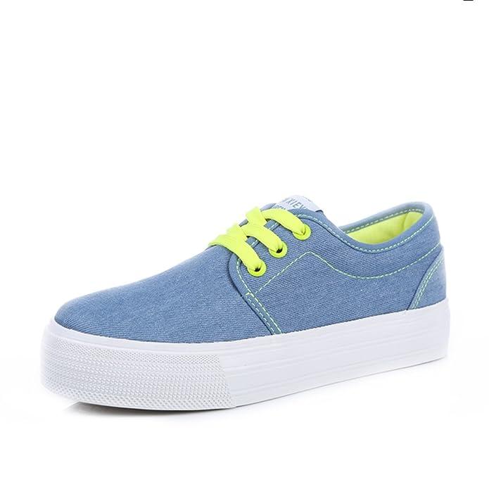Zapatos de las muchachas de lona de verano/Zapatos de suela gruesos de pastel/Zapato de puro ocio-C Longitud del pie=24.3CM(9.6Inch) Sidy4Jb