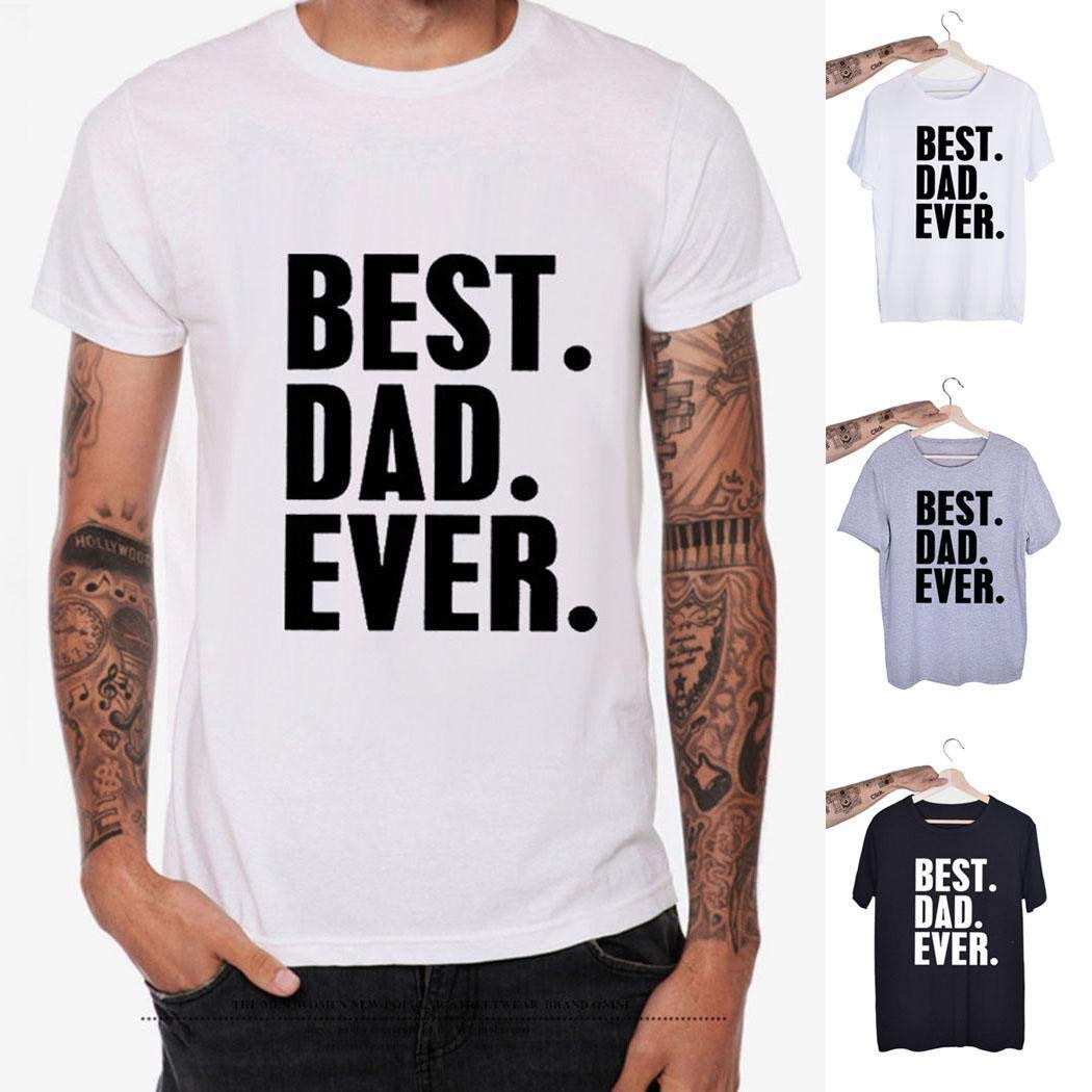 LEANO Men Fashion Simple Letter Print Short Sleeve T-Shirt Top T-Shirts