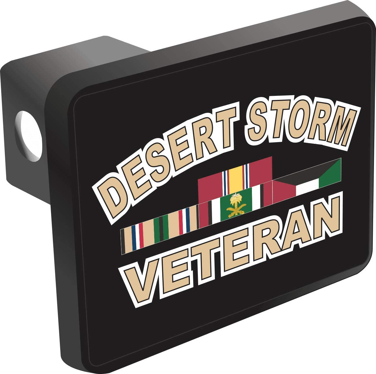 MilitaryBest Desert Storm Veteran Trailer Hitch Cover