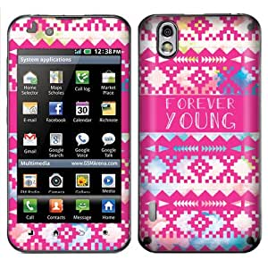 Fincibo (TM) LG Optimus Black P970 Marquee LS855 Accessories Skin Vinyl Decal Sticker - Aztec Forever Young