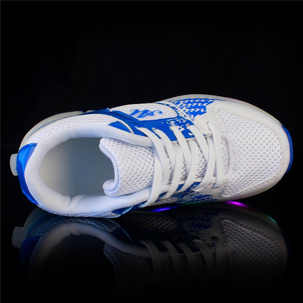 YSNJL LED Light Up Roller Skates Shoes Flashing Single Wheel Sneakers for Girls and Boys
