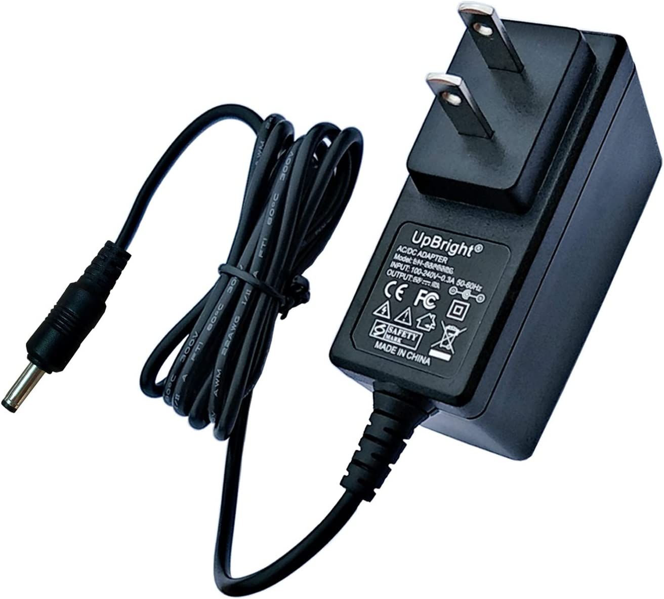 "UpBright 5V AC/DC Adapter Compatible with IVIEW Ultima 13.3"" Convertible Laptop PC Logitech G19 Y-U0005 JODEN JOD-SBU050242 JOD-SW-02219 Kings KSS18-050-2500U Insignia NS-DP8CH Psion Teklogix 7525 PSU"