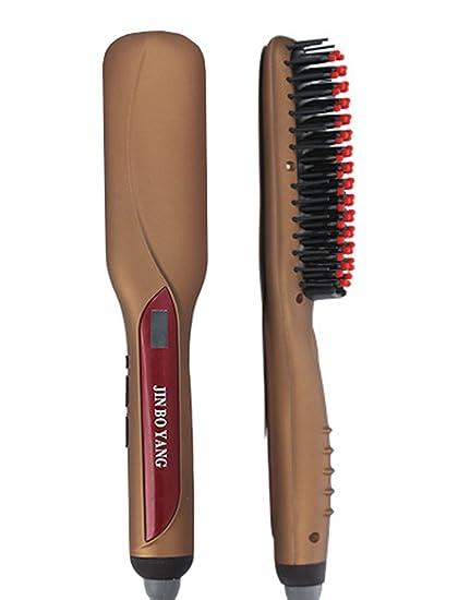 Beauty Nymph de pelo cabello Cepillo LCD eléctrica cerámica alisador ...