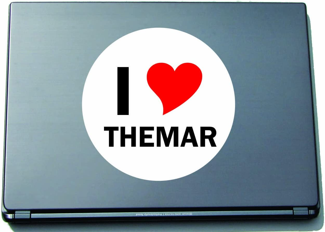 I Love THEMAR Laptopaufkleber Laptopskin 210x210 mm rund