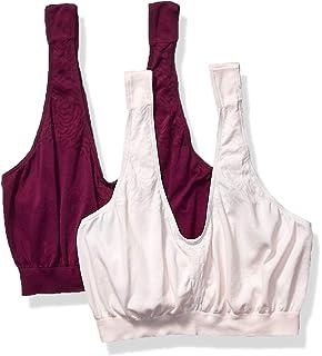 Bali Womens Comfort Revolution Microfiber Crop Bra 2-Pair White//Nude XXX-Large
