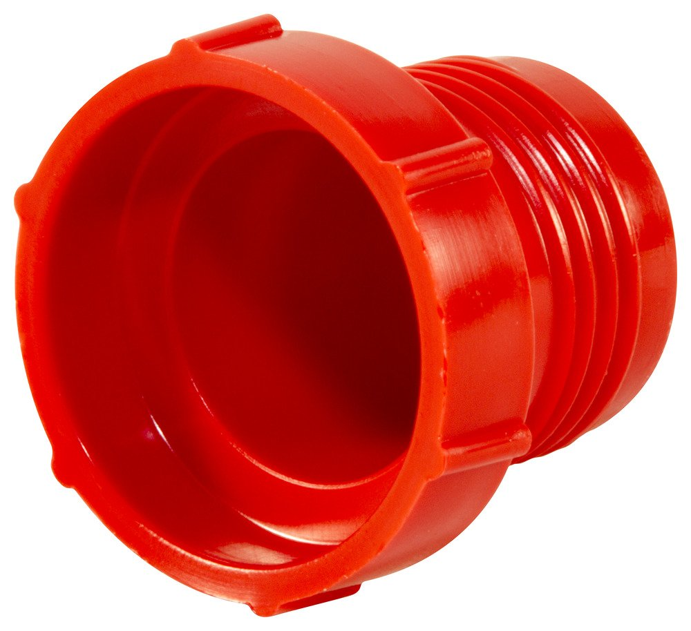 Caplugs Plastic Threaded Plug for Flared JIC Fittings. PD-100, PE-HD, to Plug Thread Size 7/8-14'', Red (Pack of 100)