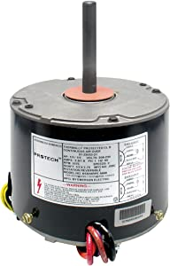 Rheem Protech TripSaver Condenser Fan Motor 1/6 HP to 1/3 HP 208-230V 1-Phase 60Hz 1075 RPM 2-Speed (#51-23053-21)