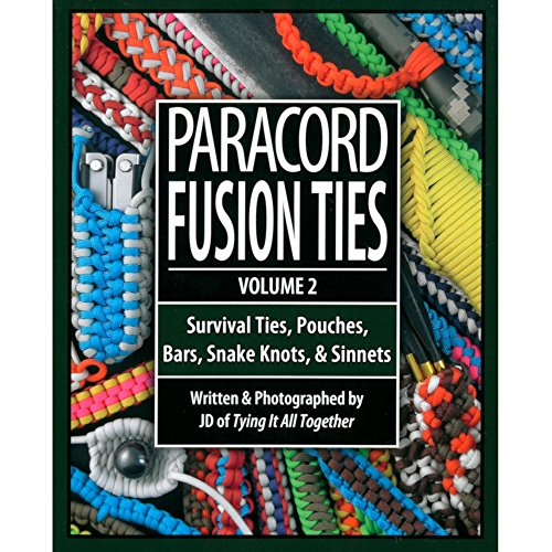 Paracord Crafting Books – Get Creative with Paracord – Simple Step-by-Step Instructions - Paracord Fusion Ties: Volume - Twisted Survival Book