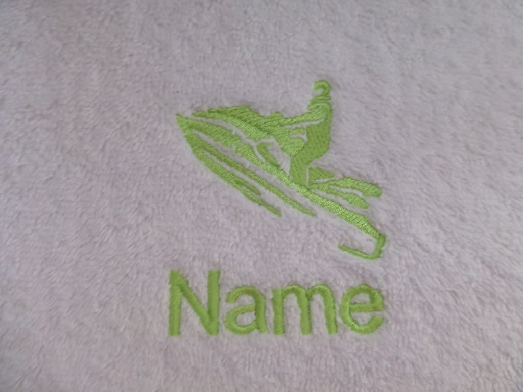 EFY White Baby Hooded Bath Robe or White Hooded Towel with a PIG Logo and Name of your choice. Hooded Towel 0-5 years