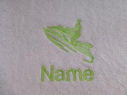 Albornoz con capucha para bebé de color blanco o blanco toalla con capucha con un Jet