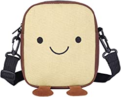 Women Cute Cartoon Bag Canvas Small Square Messenger Daypack Mini Travel Crossbody