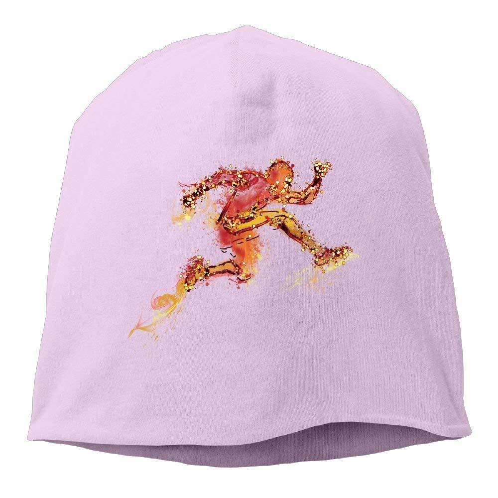Splashing Runner Running with Fire Beanies Gorra para Men Women ...