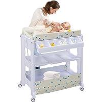 COSTWAY Cambiador de Pañales Estante para Bebé Organizador