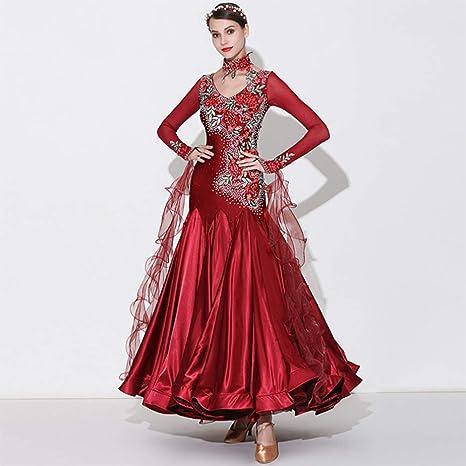 DSDBWQ Falda de Baile Moderno para Mujer Baile de salón Vals de ...