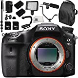 Sony Alpha A99 II ILCA99M2 A99II DSLR Camera (Body Only) 13PC Kit - Includes 64GB SD Memory Card + 2 Replacement Batteries + Carrying Case + Monopod + More