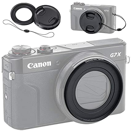 Filter Adapter And Lens Cap Kit For Canon Powershot G5X G7X And G7X Mark Ii
