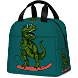 Dinosaur Lunch Bag, Reusable Cute Lunch Box Insulated Kids Cooler Tote Bag Multi-functional School Lunch Container for…