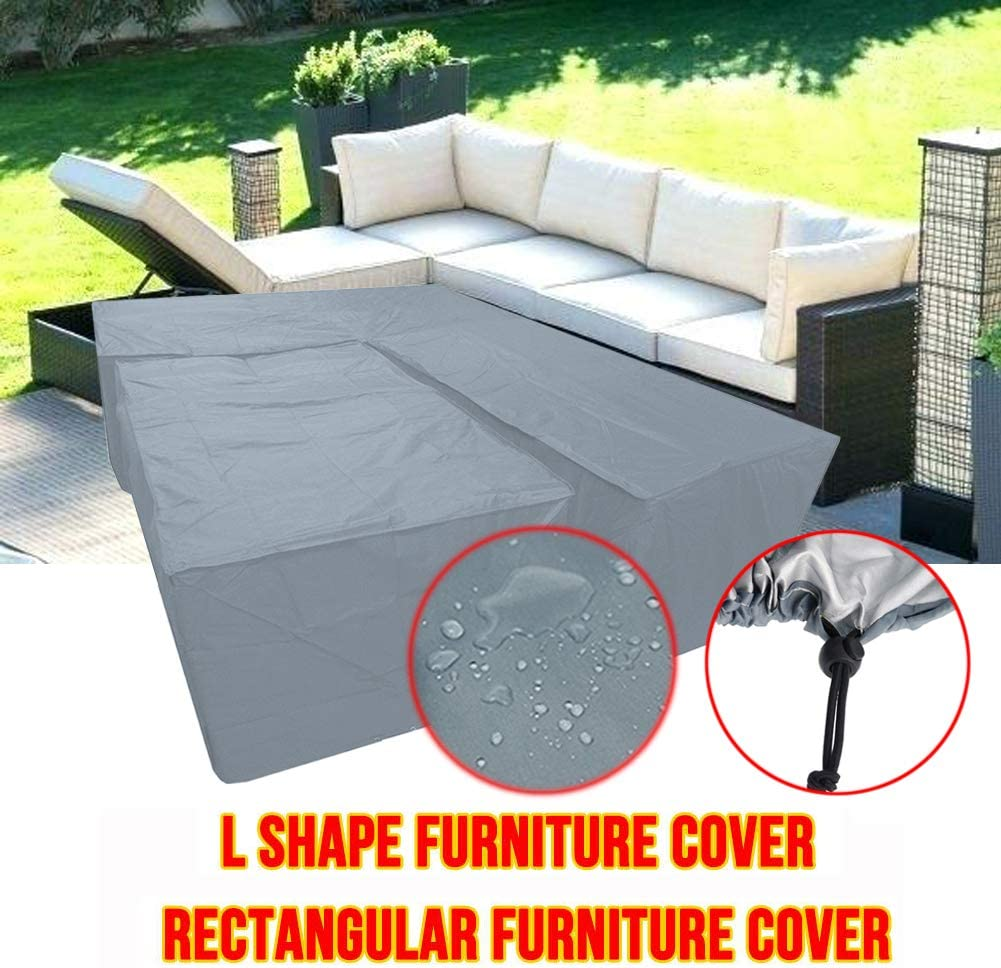 Silvotek L Shaped Garden Furniture Covers - Protective Cover for