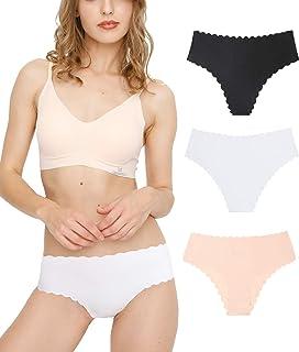 Tokyo - Pack de 3 bragas sin costuras para mujer Negro Nilia (Braguitas) XS: Amazon.es: Ropa y accesorios