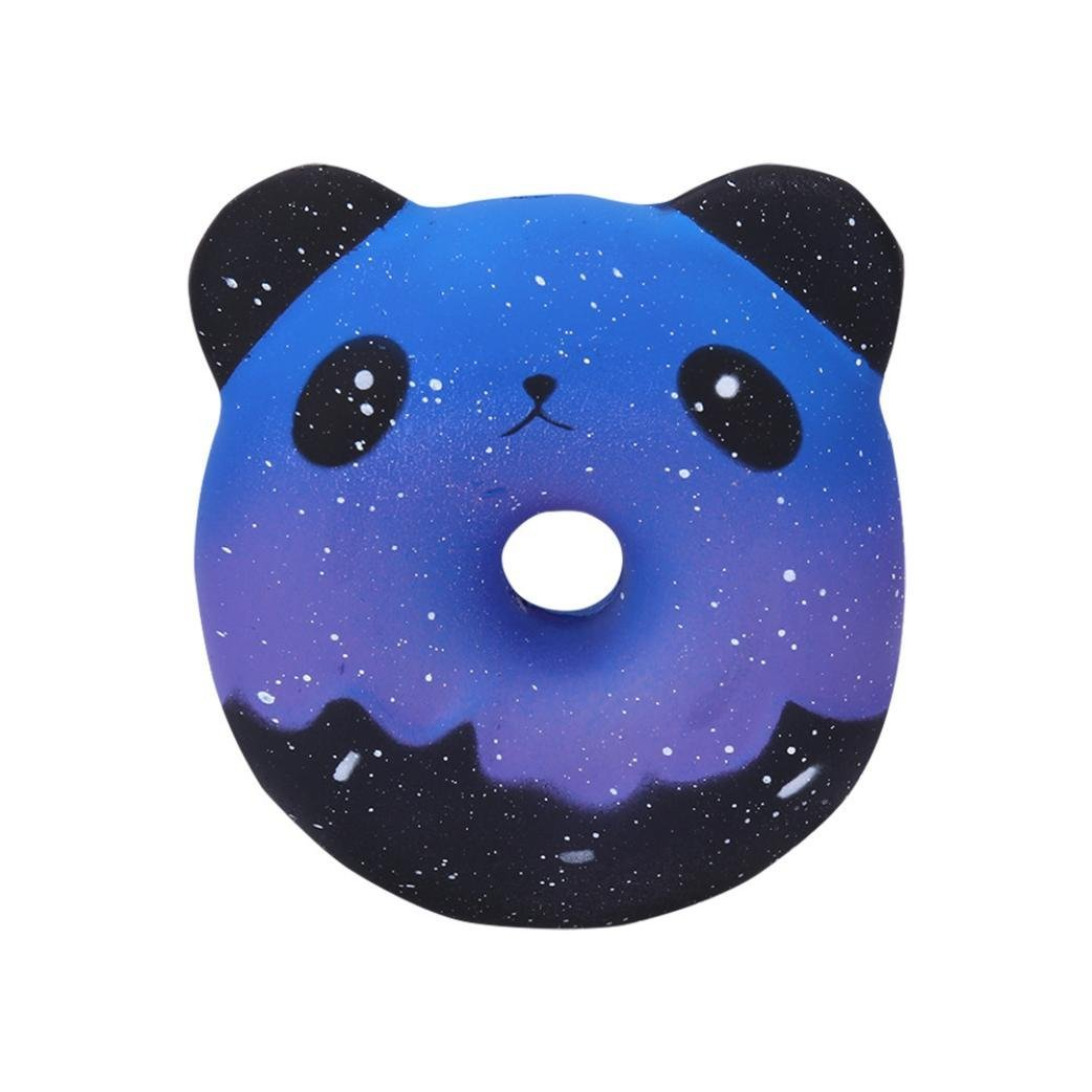 Drfoytg Clearance,Stress Reliever Toys Cute Squishy Toy Panda Decompression Slow Rising Squeeze Cream Scented Animals (Blue)