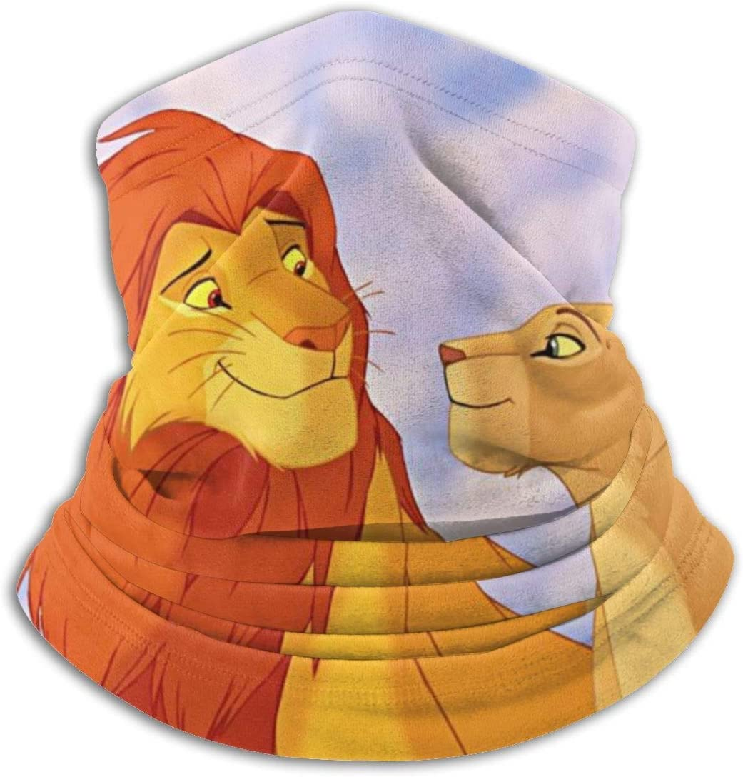 ASDAH Lion King Simba Cache-Cou Couvre-Visage Anti-poussi/ère Sports Foulard sans Couture Respirant et Solaire Protection UV Respirant /Élastique Multifonction Cagoules Cagoule Sport Noir