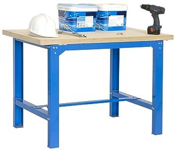 Etabli plywood 1200 bT - 6 x 750 bleu bois, dimensions   86,50 x 120 ... 3f8db8897510