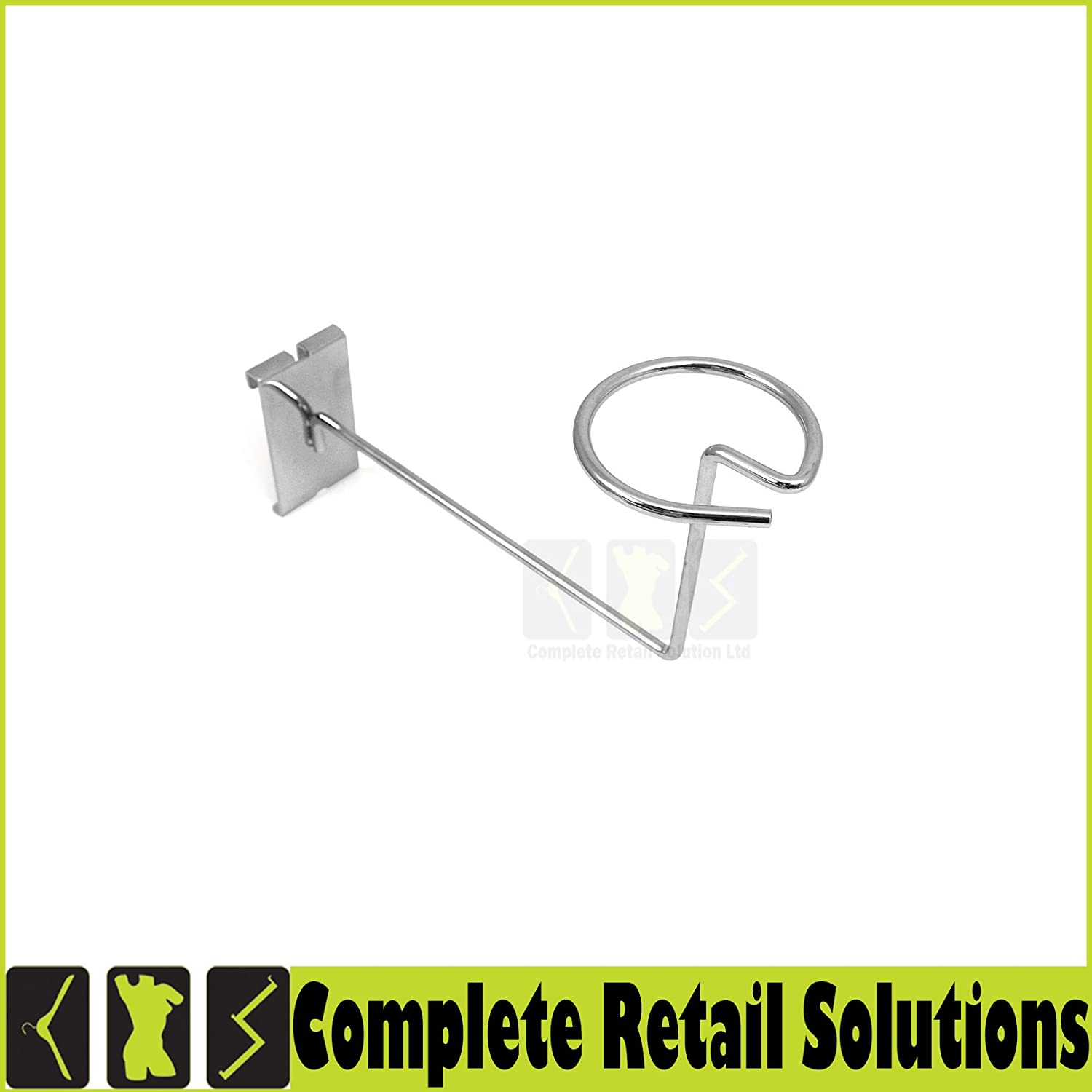 GRID WALL GRIDWALL MESH CHROME RETAIL SHOP DISPLAY PANEL ACCESSORY HOOK ARM ARMS (MILLINERY ARM) CRS