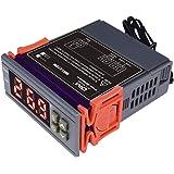 DiyStudio AV100V AC110V AC 10 A / 90 V - 250 Vディジタル温度コントローラは熱電対デジタルサーモスタットを制御します-50°C〜110°C MH1210W