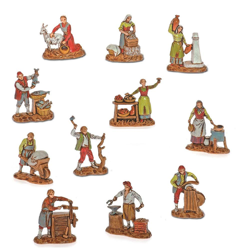 Moranduzzo Statuina Presepe Mestieri Assortiti Busta cm3, 5 426037100