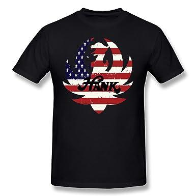 46ec6c952 Amazon.com: MASTER Men's Hank Williams Jr Logo T Shirt Short Sleeve Cotton  Tee: Clothing