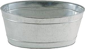 Achla Designs C-51M Mini Oval Galvanized Steel Tub