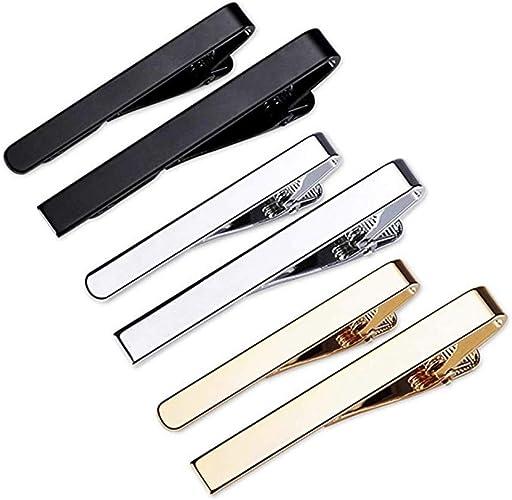 Clips de Corbata Plata Oro Negro,clip de corbata de cobre,Pisacorbatas,clip de corbata set,tie clip: Amazon.es: Joyería