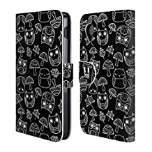 Head Case Designs Mushroom And Autumn Leaves Doodle Owls Leather Book Wallet Case Cover For LG Nexus 4 E960