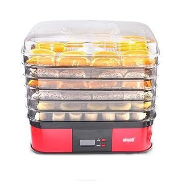 Deshidratador Rectangular De 6 Capas Para Alimentos Frescos - Control De Temperatura Tipo Perilla 104-