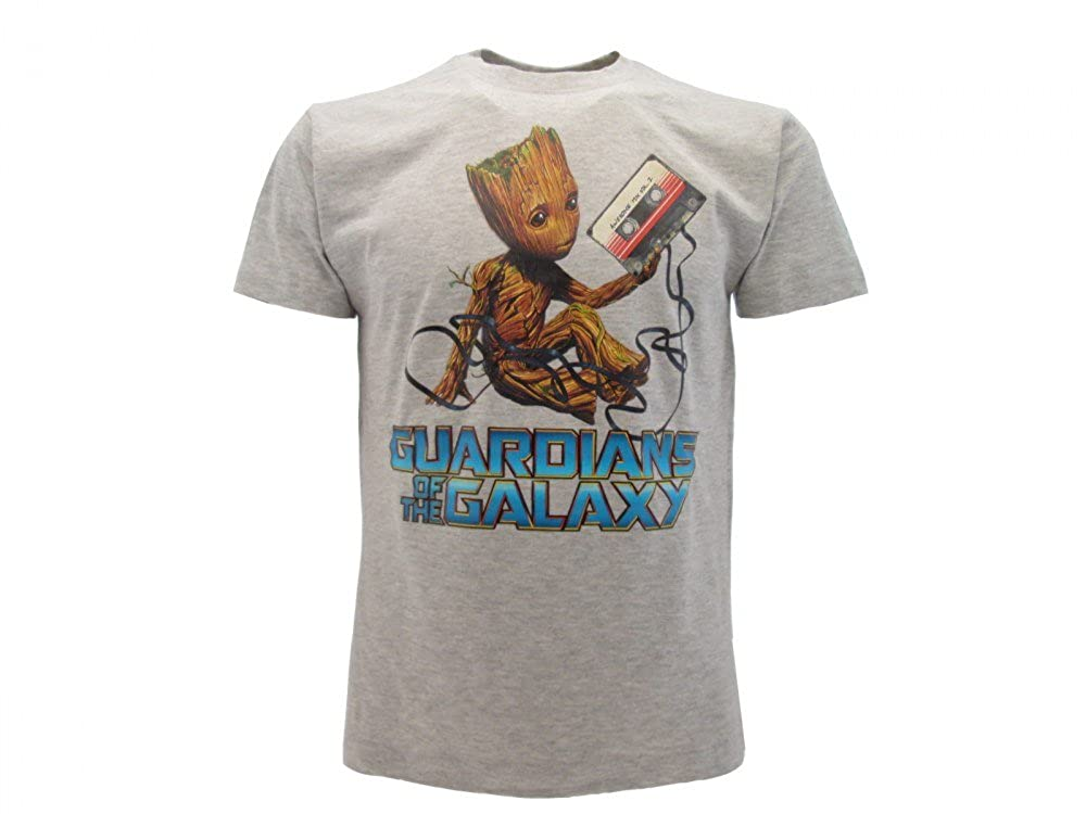 Marvel T-Shirt Originale Guardiani della Galassia Vol 2 Groot Maglia Maglietta con cartellino ed Etichetta di originalit/à