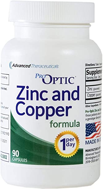 Amazon.com: Pro-Optic Zinc & Fórmula de cobre (3 meses de ...