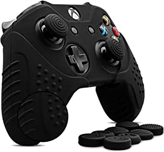 CHIN FAI para Xbox One/Xbox One s/Xbox One X Piel del Controlador, Funda de Silicona Antideslizante Controlador de Microsoft con 8 x Tapas de Agarre para el Pulgar: Amazon.es: Electrónica